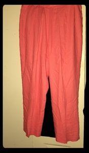 Coral Linen Pants